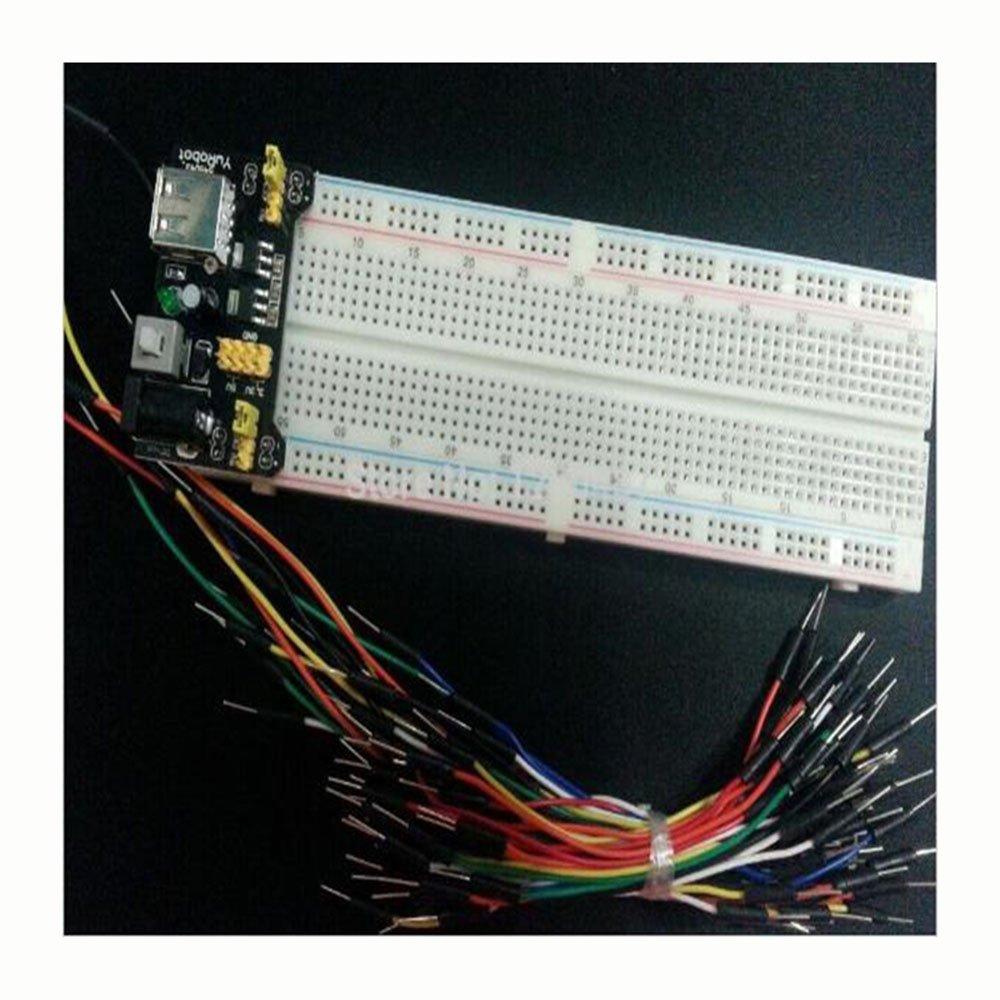 3.3V//5V power module MB102 830 points Solderless Prototype Breadboard kit
