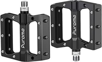 9//16 Lightweight Aluminum Pedal MTB//Track Wide Platform Bicycle Pedals