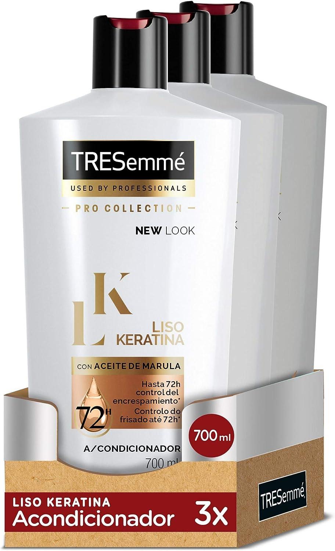 TRESemmé Acondicionador Liso Keratina - Paquete de 3 x 700 ml - Total: 2100 ml