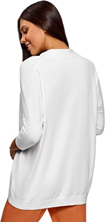 oodji Ultra Mujer Jersey Holgado con Cuello de Pico