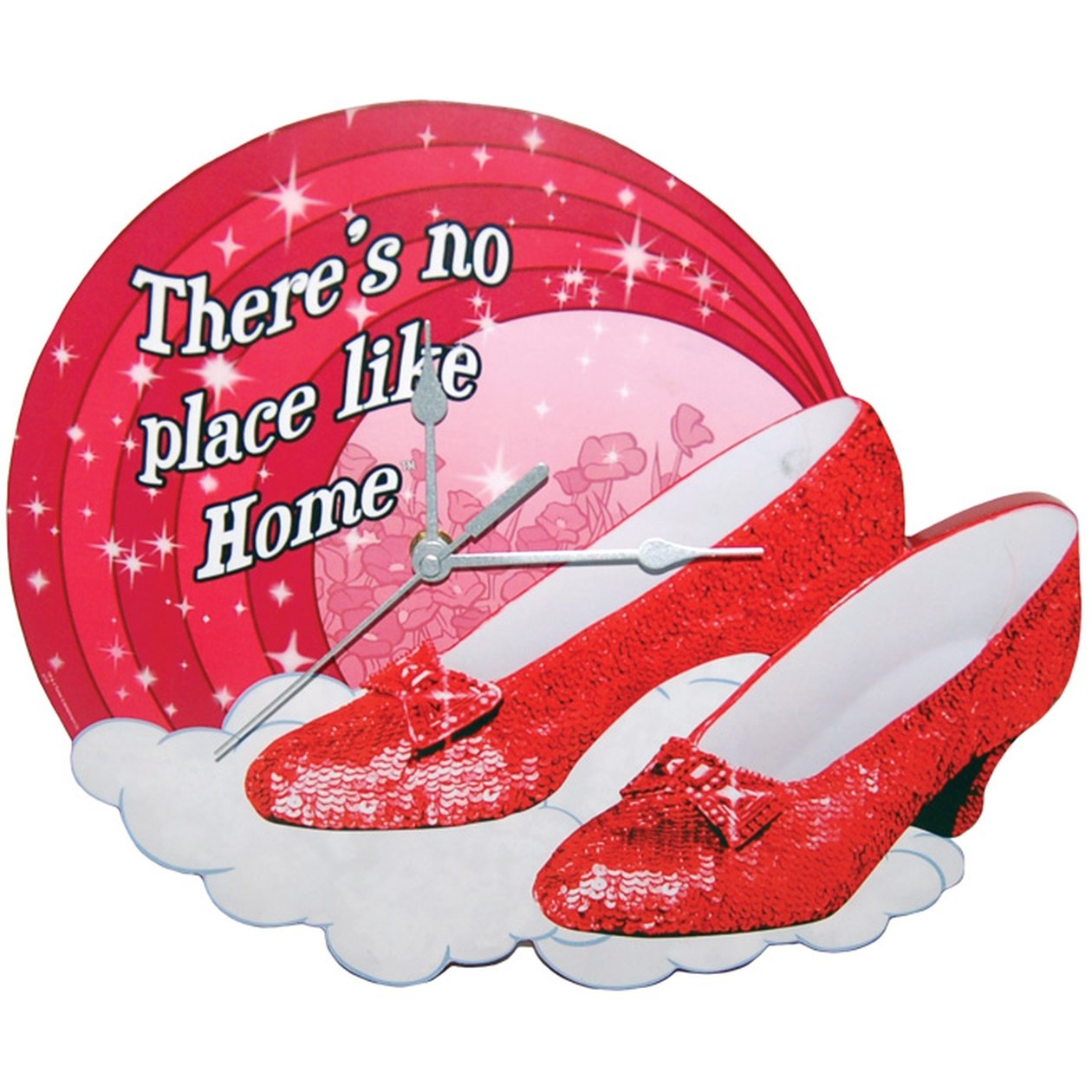 Westland Giftware The Wizard of Oz MDF Wood Wall Clock, 11.25-Inch, Ruby Slippers
