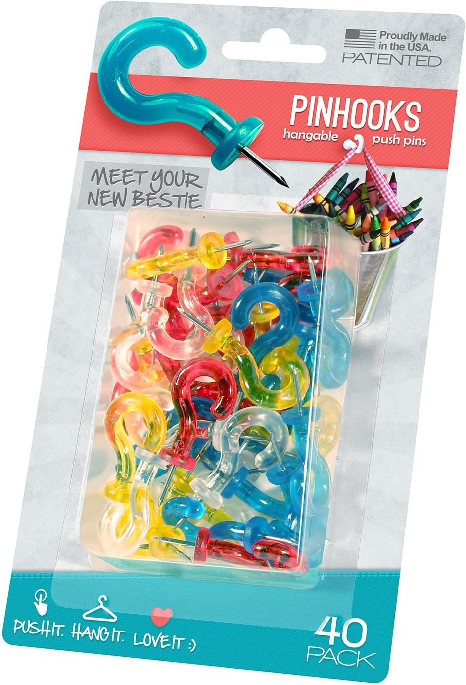 transparent Pinhook Klear Kindness Wandhaken 40 St/ück