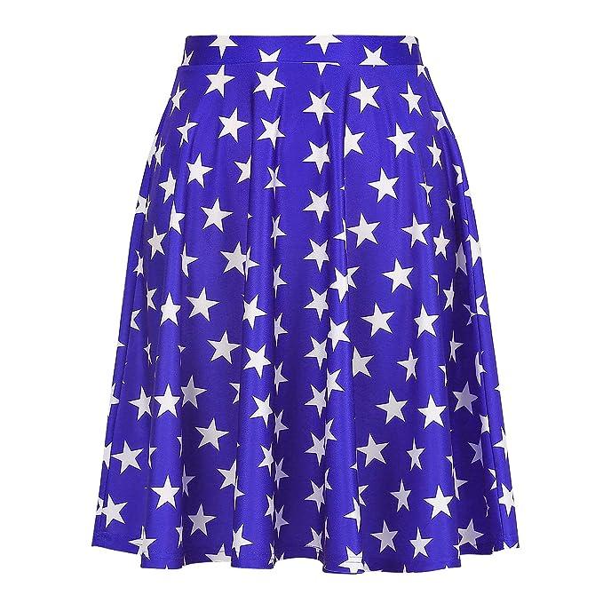 60e35e753b4f Amazon.com: HDE Skirts for Women - Midi Skirt Skater Skirt Knee ...