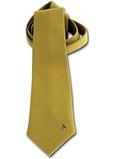 4ccf6f9dad Anovos Star Trek Original Series (Novelty Men's Necktie-Command Captain  Kirk, Gold)