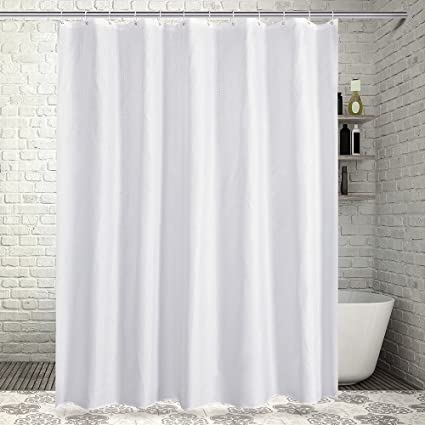 Sable Mildew Resistant Fabric Shower Curtain For Bathroom With Rustproof Grommets And Plastic Hooks Waterproof