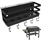 """RUSFOL Upgraded Stainless Steel Griddle Caddy for 28""""/36"""" Blackstone Griddles, with a Allen Key, Space Saving BBQ Accessories"""