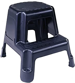 Cosco 11-911BLK Two-Step Molded Step Stool Black  sc 1 st  Amazon.com : rubbermaid stepping stool - islam-shia.org