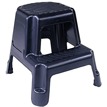Amazon Com Acko 2 In 1 Dual Purpose Stool Two Step Ladder