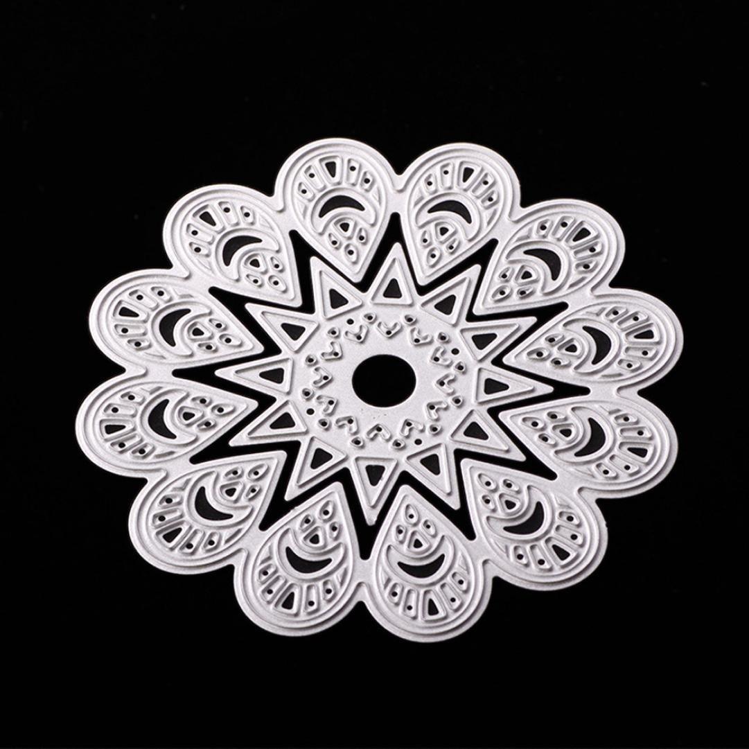 Transer® Metal Cutting Dies- DIY Scrapbooking Embossing Album Paper Card Craft Die Tool (Vines wreath (72x70mm 39x38mm 61x55mm))