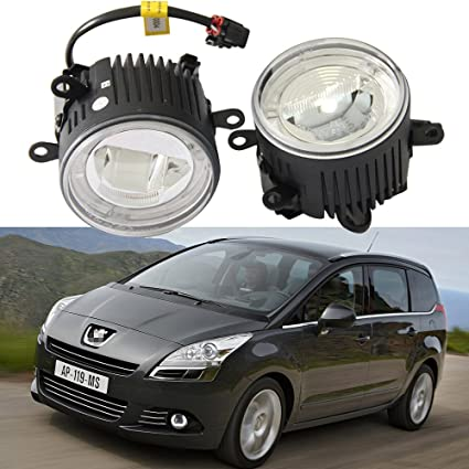Amazon.com: NSLUMO 9CM Led Fog Light Headlight 10W Cree chips With Halo ring DRL Lamp For Peugeot 207 307 407 607 5008 12-14 12V Led Drl daylight: ...