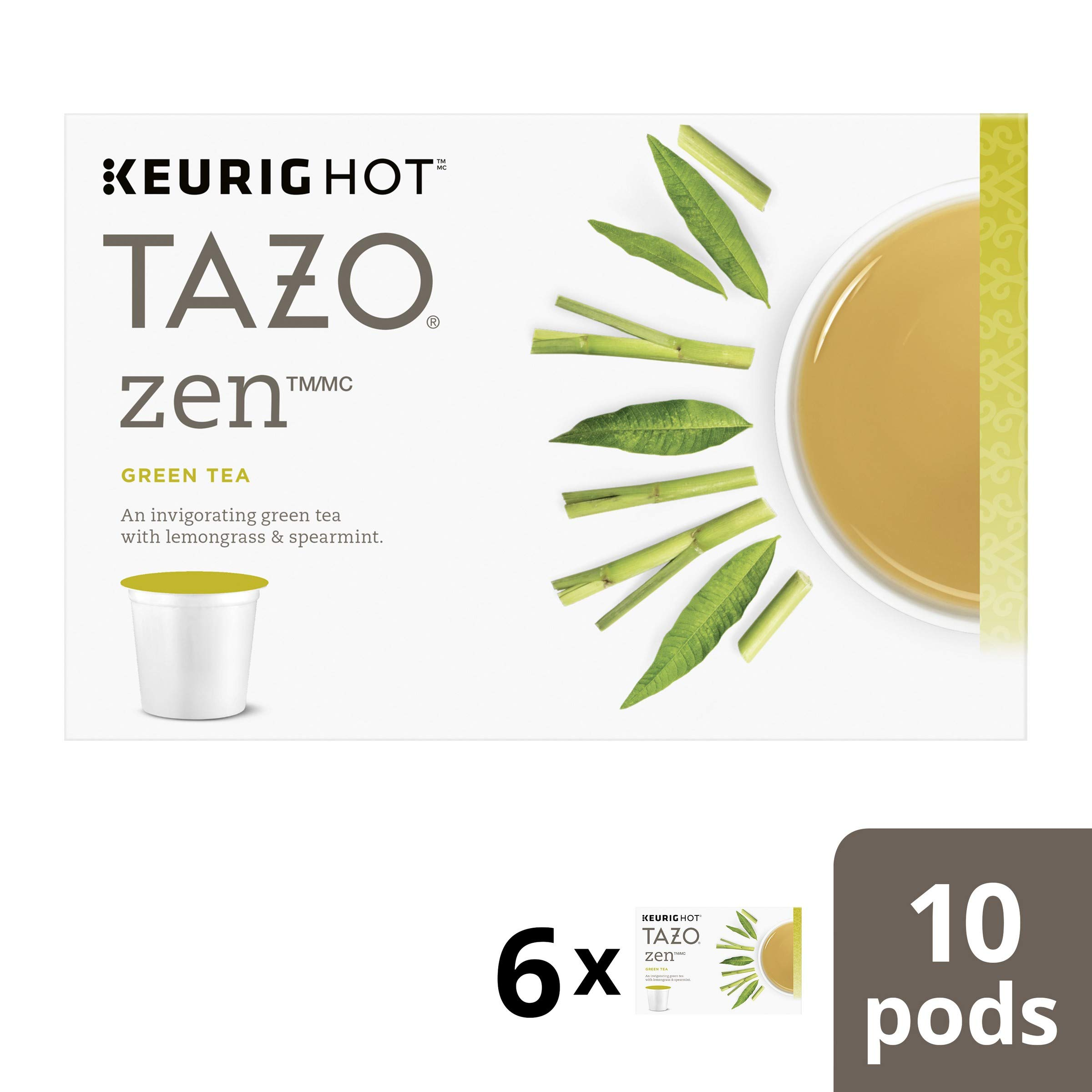 Tazo Zen Green Tea K-Cup, 10 ct (Pack of 6) by TAZO (Image #1)