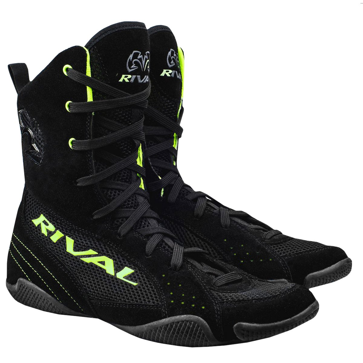 Rival Boxing boots-rsx one-highトップス B01CRM04N6 ライムグリーン 14
