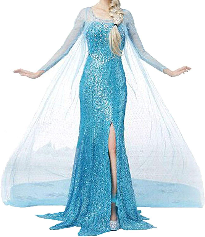 Amazon.com: NIYIGEJI - Disfraz de Elsa para mujer: Clothing