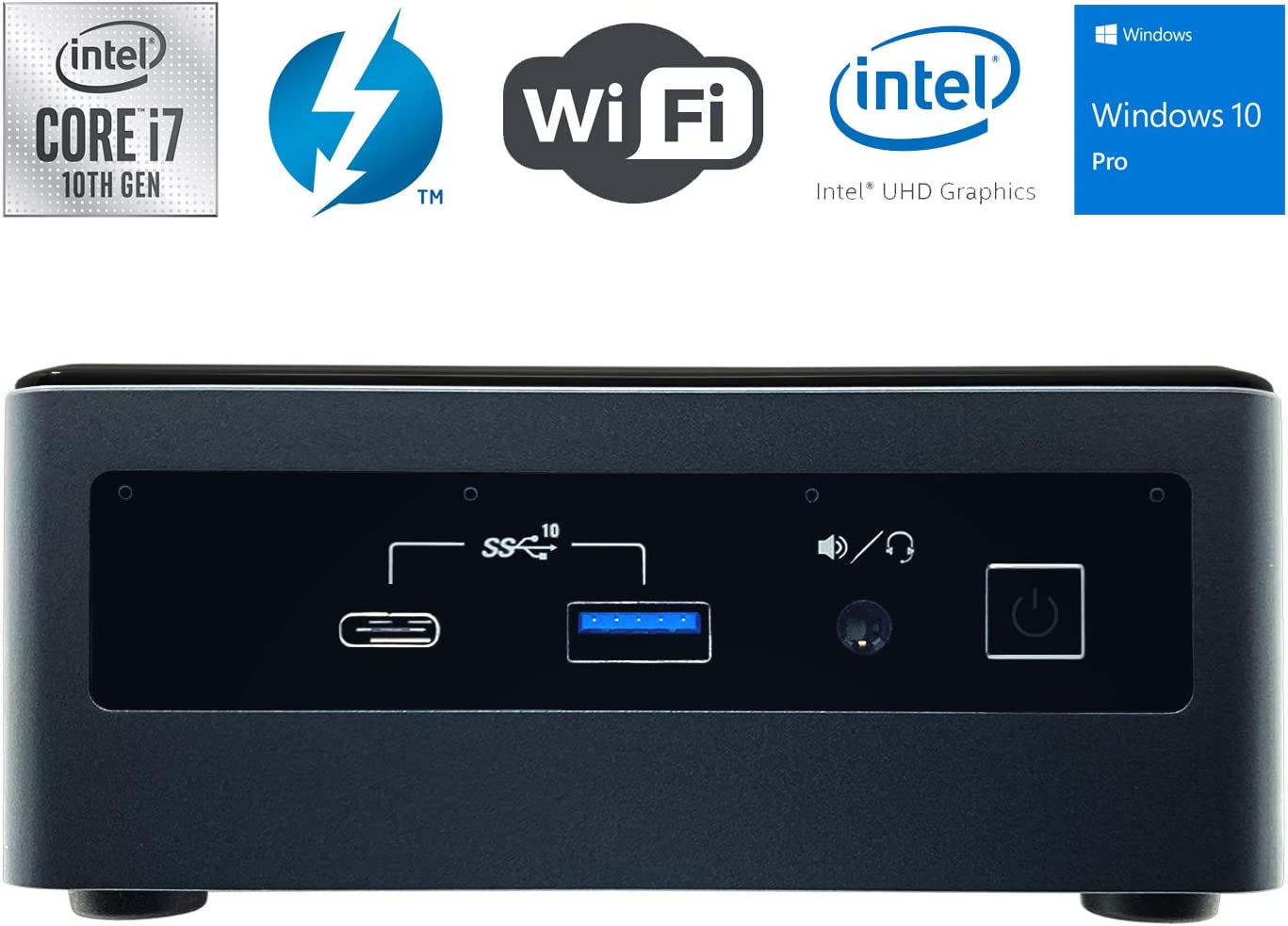 Intel NUC NUC10i7FNH Ultra Small Mini PC/HTPC - 10th Gen Intel 6-Core i7-10710U up to 4.70 GHz CPU, 16GB DDR4 RAM, 512GB SSD, Wi-Fi + Bluetooth, Intel UHD Graphics, Windows 10 Professional