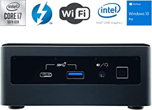 Intel NUC NUC10i7FNH Ultra Small Mini PC/HTPC - 10th Gen Intel 6-Core i7-10710U up to 4.70 GHz CPU, 16GB DDR4 RAM, 512GB SSD, Wi-Fi + Bluetooth, Intel UHD Graphics, Windows 10 Professional