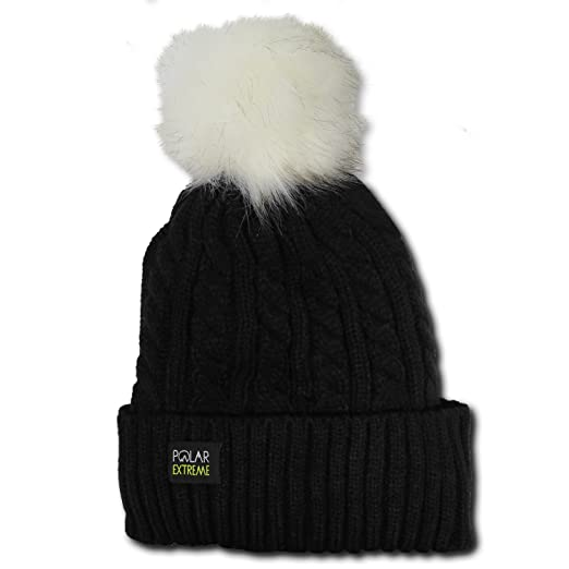 a2ade92a9d4 Magg Shop Pom-Pom Knit Slouchy Baggy Beanie Oversize Winter Hat Ski Cap  Skull Womens