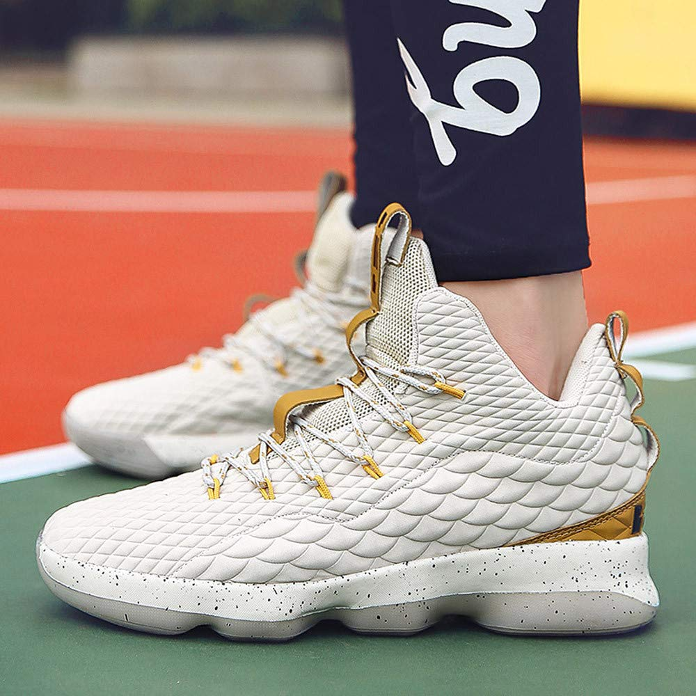 Hunzed Men【Wearable Basketball Shoes】 Men Running Sports Basketball Shoes Non-Slip Wear Resistant Sneakers For fall tall ankle boots riding boots with heel womens casual boots Flock Sole Material:rubber Shoes