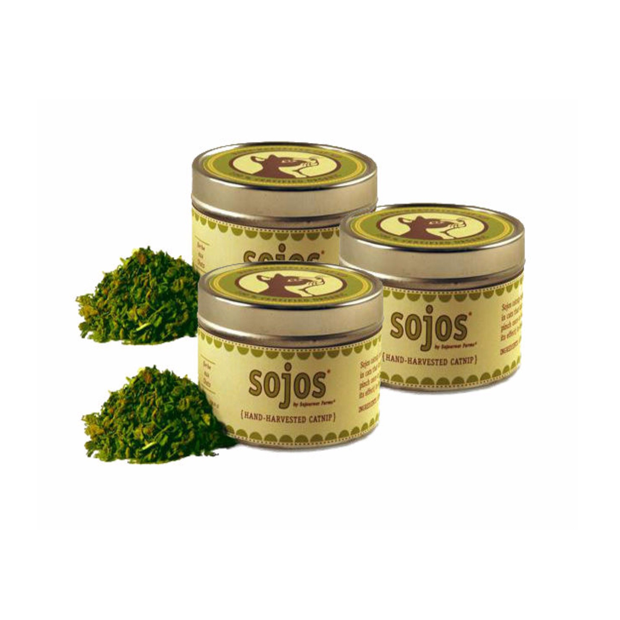 SOJOS Organic Catnip with Gift Tin Cat Treat or Refill Catnip Toys - 1 oz 3 Pack by SOJOS (Image #1)