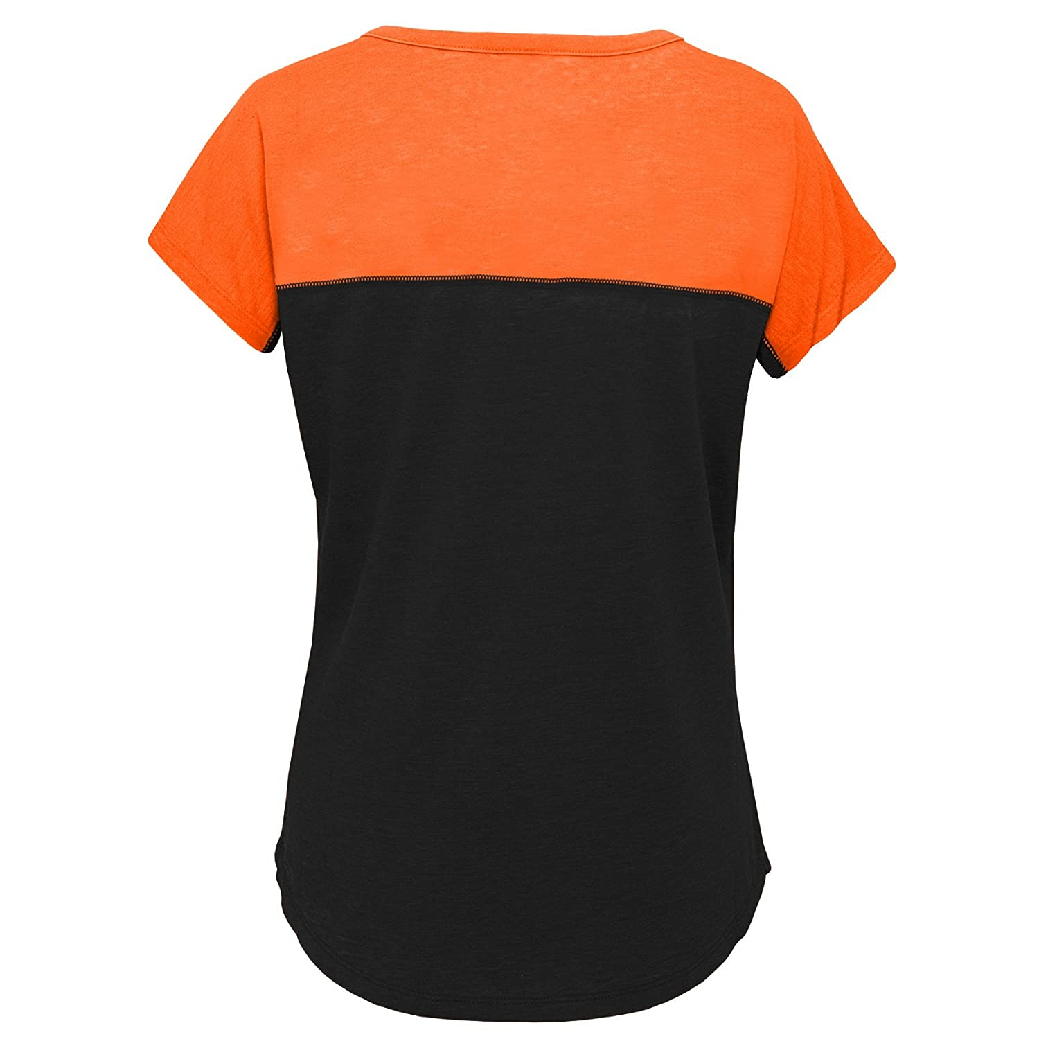 16 NCAA by Outerstuff NCAA Princeton Tigers Youth Girls Tribute Raglan Football Tee Youth X-Large Black