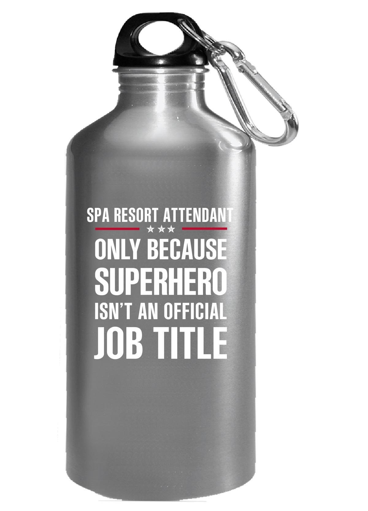Gift For Superhero Spa Resort Attendant - Water Bottle