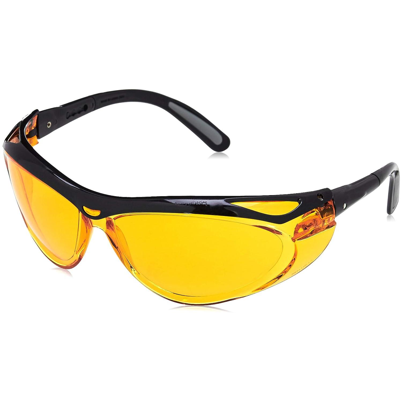 Basics Blue Light Blocking Safety Glasses Orange Lens 3-Count Anti-Fog