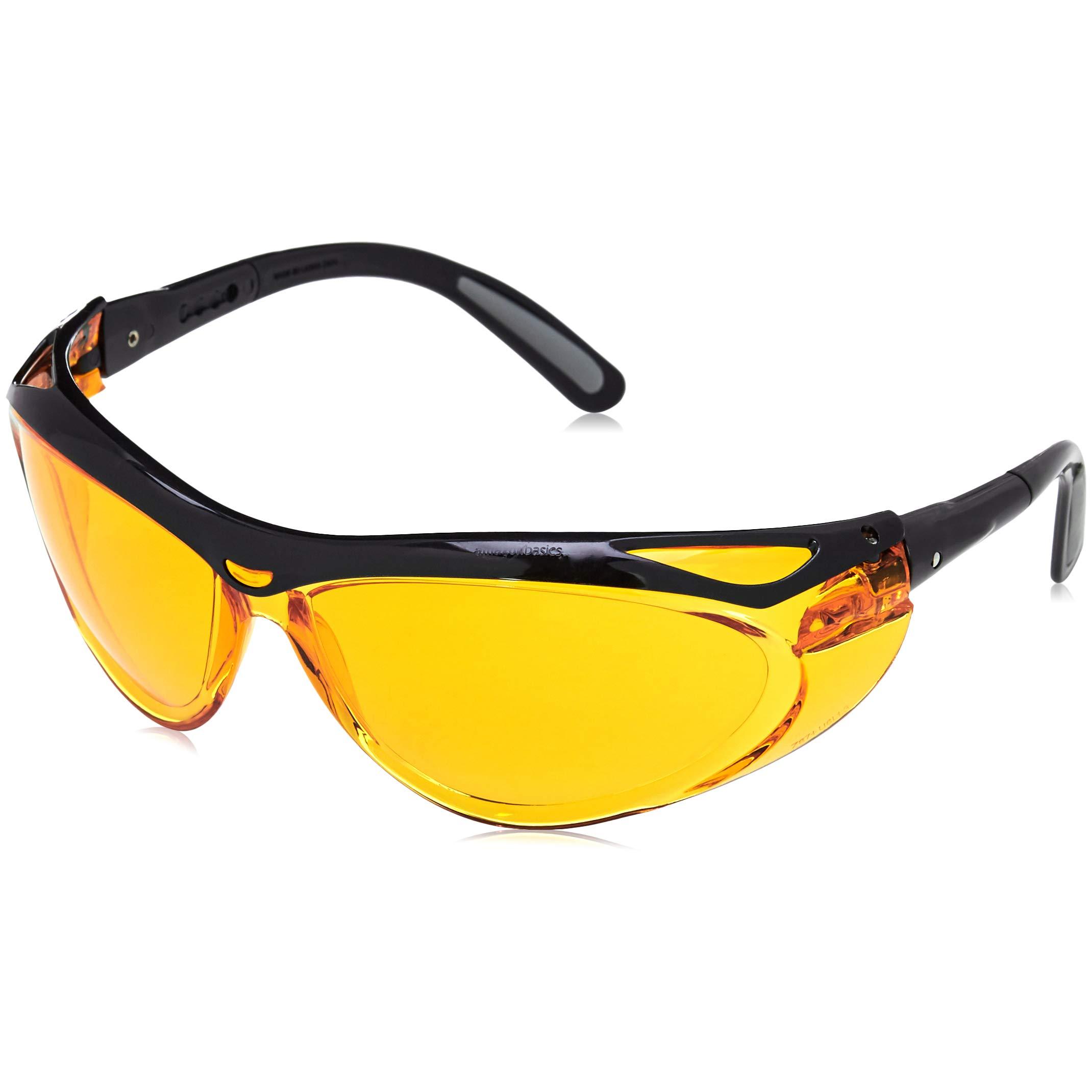 AmazonBasics Blue Light Blocking Safety Glasses, Anti-Fog, Orange Lens, 6-Count by AmazonBasics (Image #3)