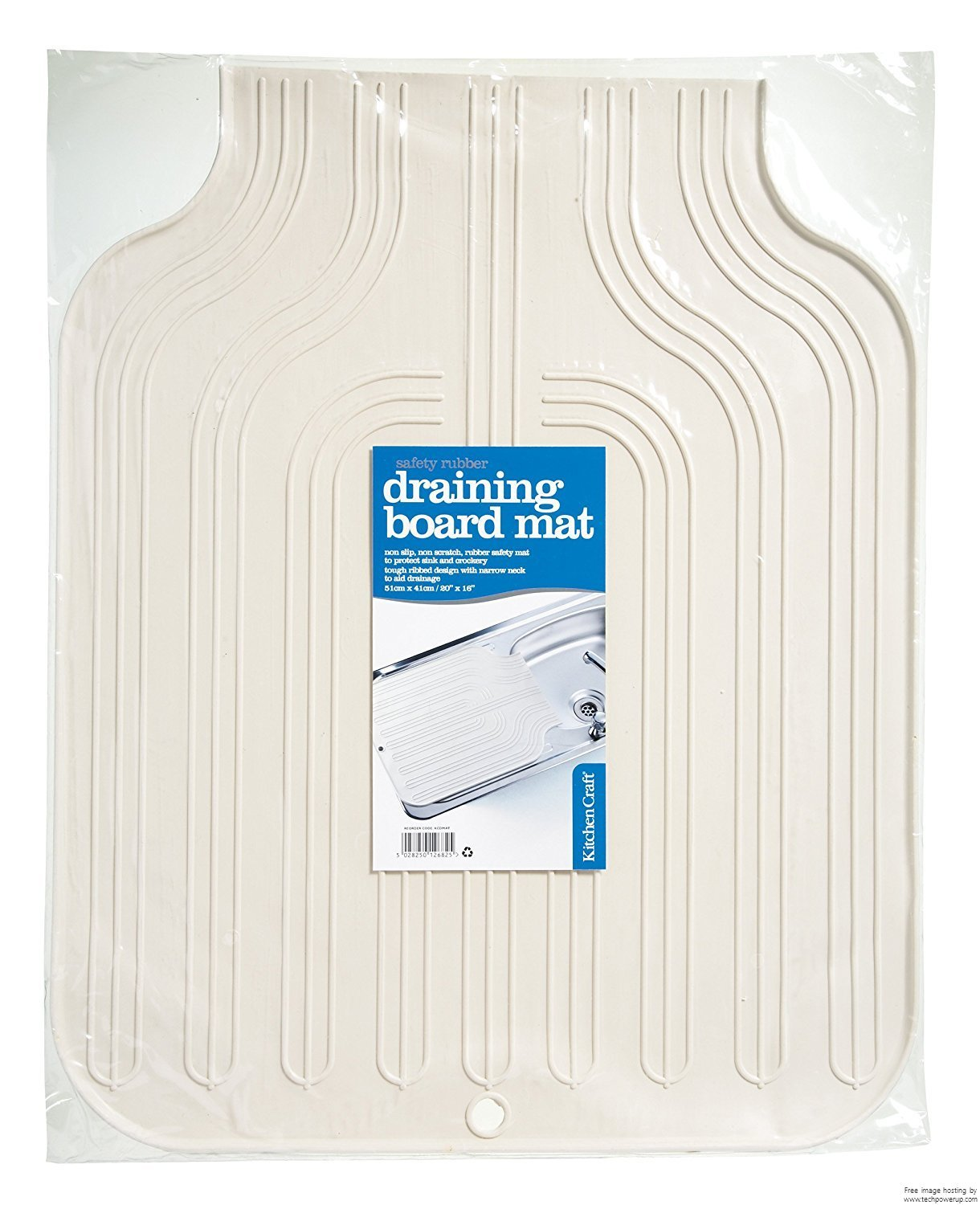 2xKitchen Craft 51cm Rubber Draining Board Mat