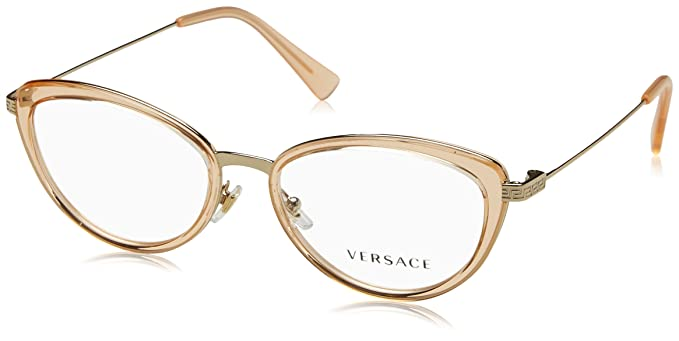 45098aee66651 Image Unavailable. Image not available for. Color  Eyeglasses Versace VE 1244  1406 PALE GOLD ORANGE TRANSP