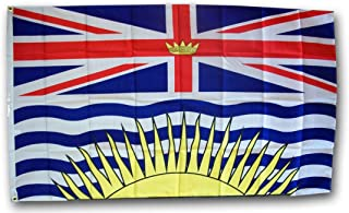 product image for British Columbia - 3' x 5' Dura-Poly Polyester Canadian Province Flag by Flagline