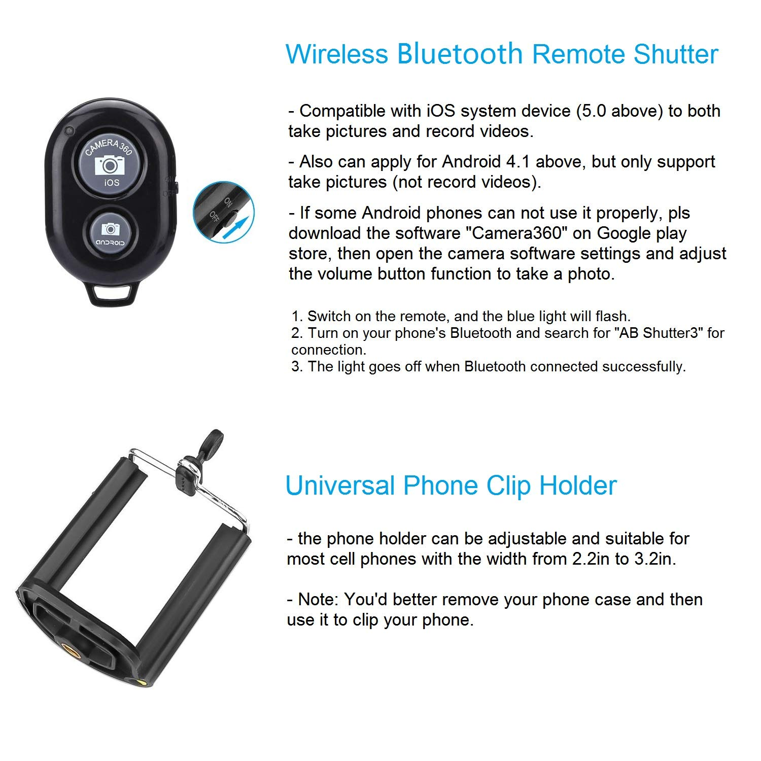 Camera / Phone Tripod, pangshi 10 Inch Flexible Camera Tripod For GoPro/Canon/Nikon/Sony DSLR Cam/Gopro Action Cam, Phone Tripod Stand with Cell Phone Holder Clip For iPhone/Android Phone(3 in 1)