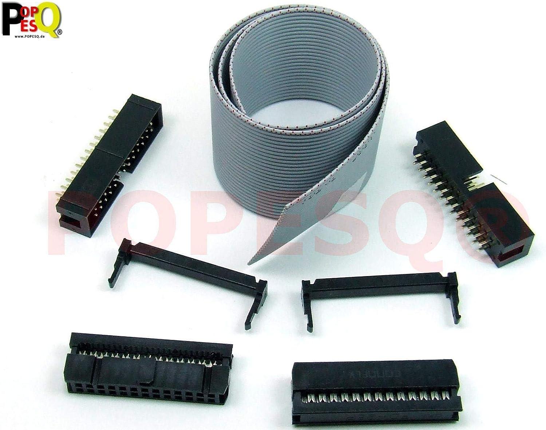 30 mit Kabelführung weiblich  1,27mm 71600-030LF IDC-Steckv Stecker IDC IDC PIN
