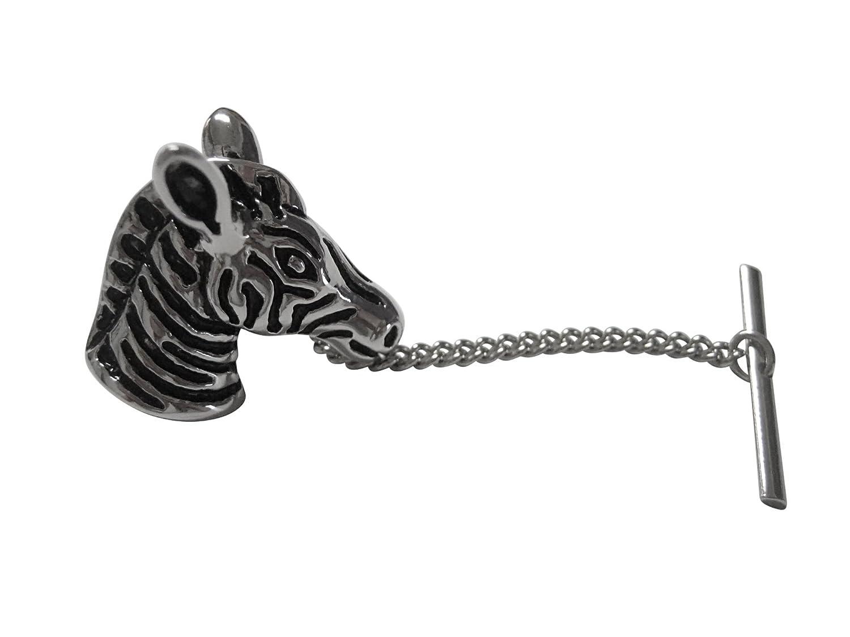 Silver Toned Zebra Head Cufflinks
