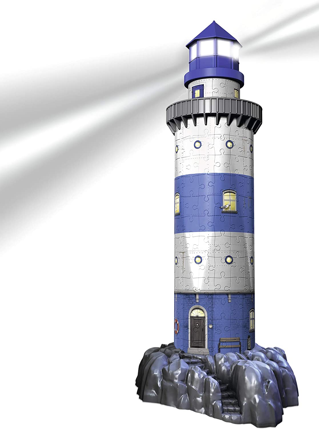 Ravensburger Lighthouse - Night Edition - 216 Piece 3D Jigsaw Puzzle for Kids and Adults - Easy Click Technology Means Pieces Fit Together Perfectly 12577