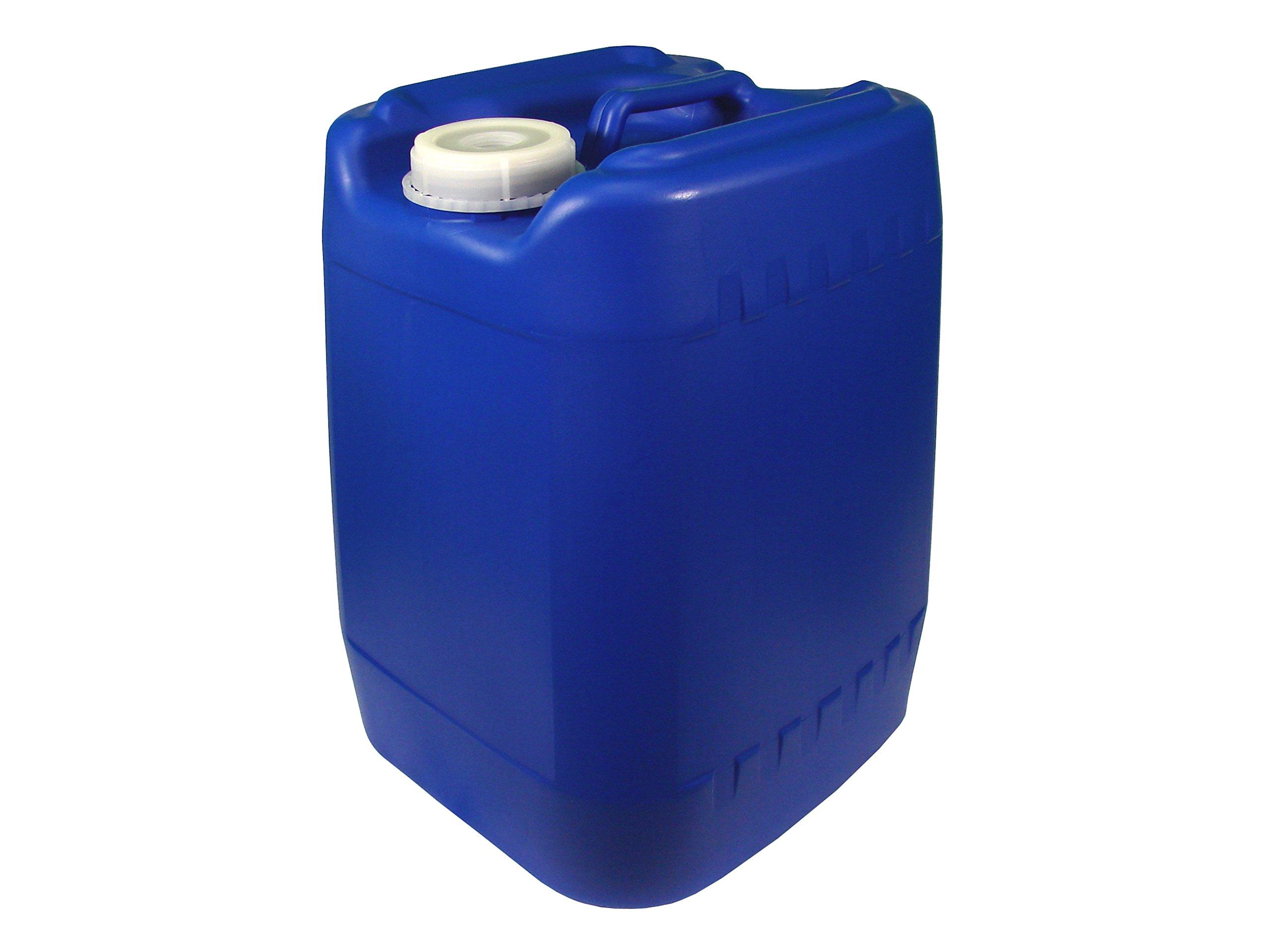 Poly Farm Stackable Water Storage Carboy, 5 gallon, Blue, Reusable Cap, Vent, Handle, Plastic
