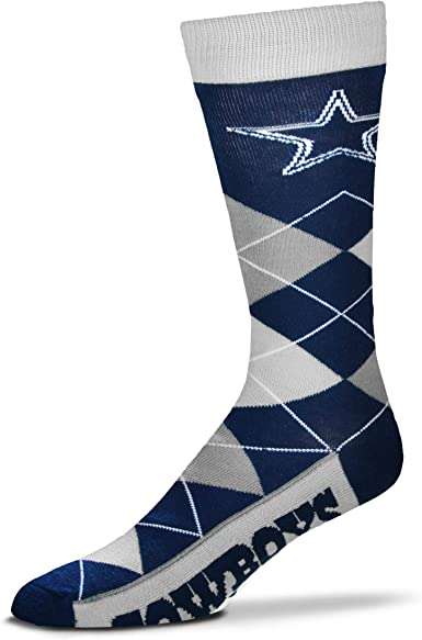 NFL Home /& Away Argyle Dress Socks One Size Fits Most For Bare Feet 2 Pack