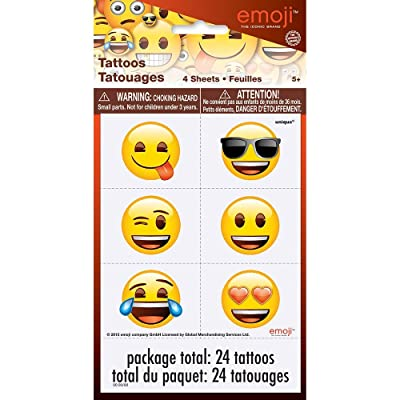 Emoji Temporary Tattoos, 24ct: Toys & Games