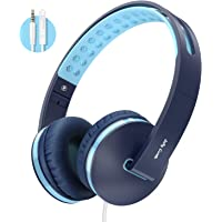 Kids Headphones for School, Jelly Comb Boys Lighhtweight Foldable Stereo Bass Kids Headphones with Microphone, Volume…