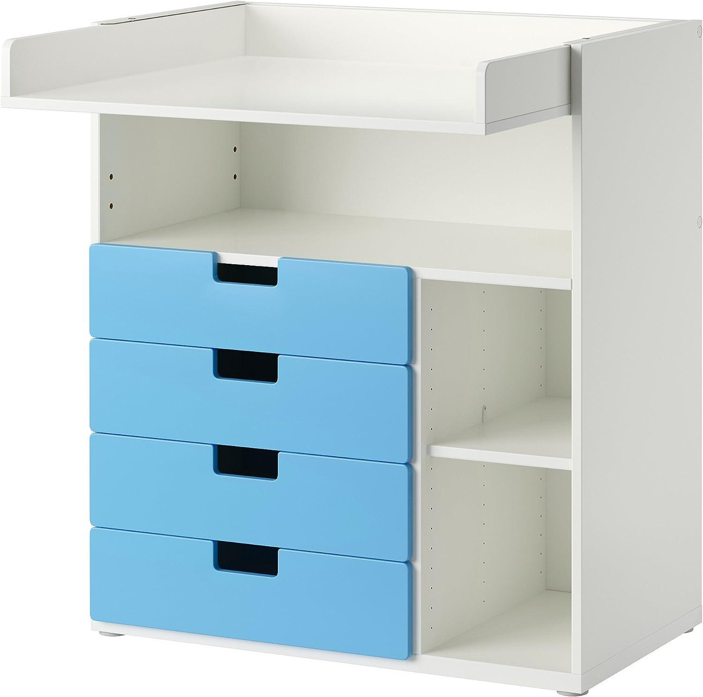 IKEA STUVA - Cambio de mesa con 4 cajones Blanco / azul 2 Pack ...