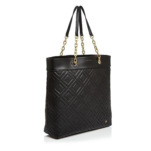 aff6c4a9f0f Amazon.com  Tory Burch Fleming Tote (Black)  Clothing