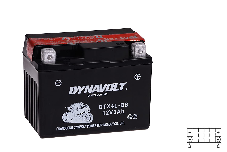 DTX4L-BS inkl.7,50/€ Pfand NRG 12V 3Ah Roller Batterie YTX4L-BS