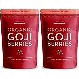 SB Organics Premium Juicy Large Organic Goji Berries - Nutrient Packed Top Grade Lycium Barbarum - 2 Lbs, 16 oz.