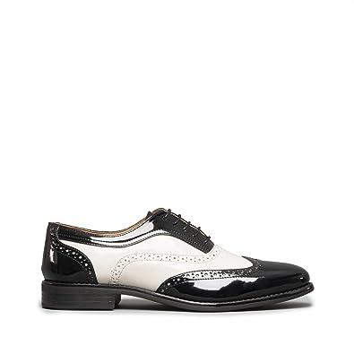 Hombre Zapatos Mister Negro Para De Carlo Negroblanco Cordones wTnF8Xq