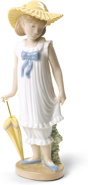 M/ädchen mit Regenschirm NAO Lladro 02001702 Porzellanfigur April Showers