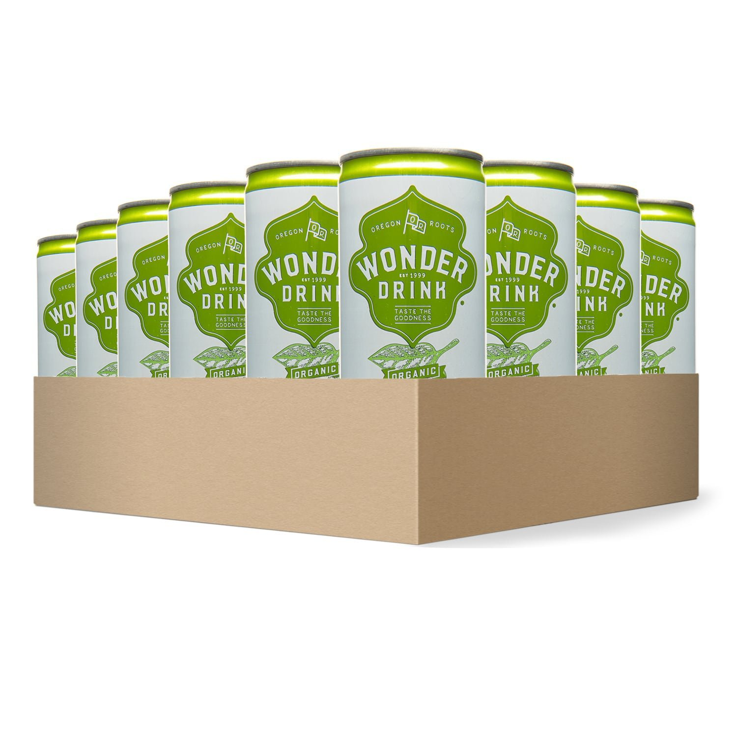 Wonder Drink Kombucha, Organic Asian Pear and Ginger Sparkling Fermented Tea, 8.4oz Can (Pack of 24) by Kombucha Wonder Drink