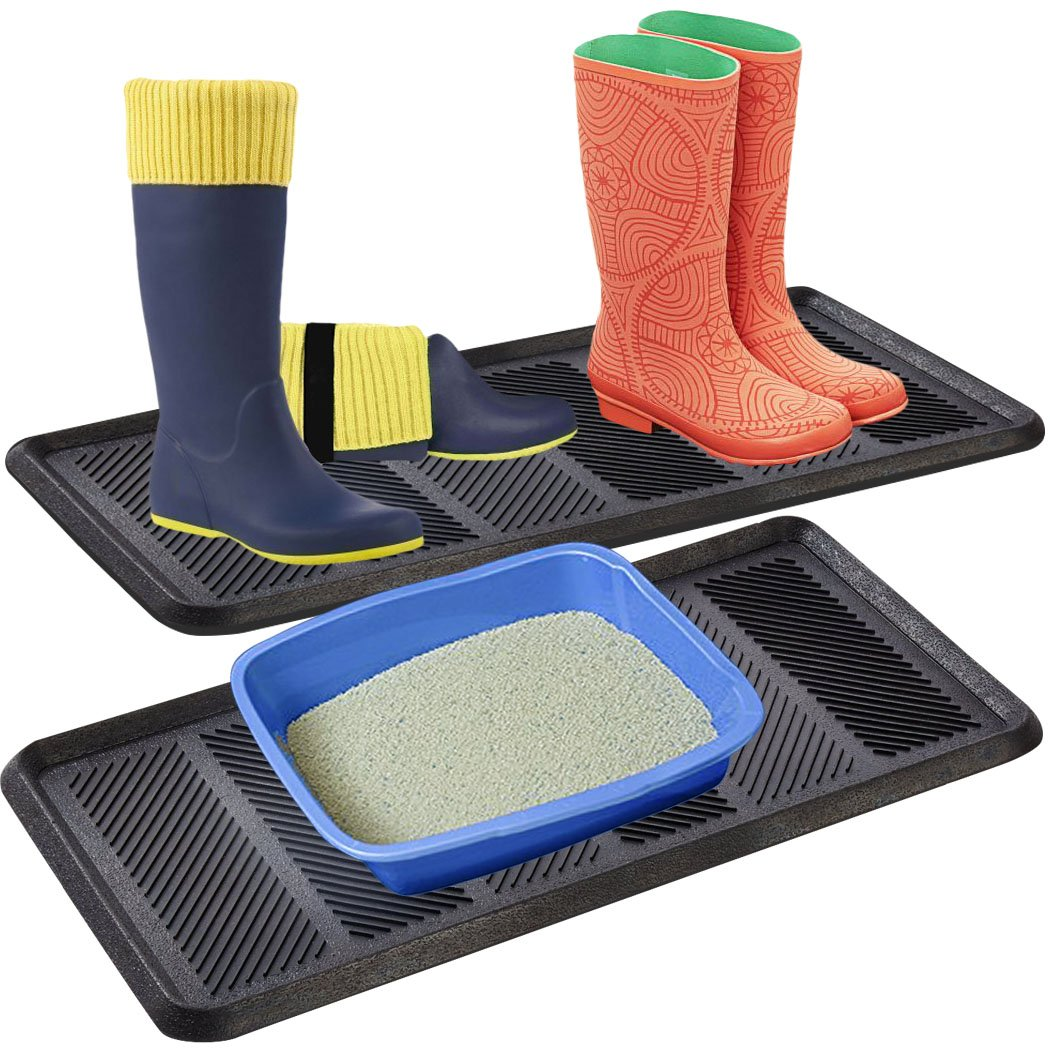 SafetyCare Heavy Duty Flexible Rubber Boot Tray Door Mat - 32 x 16 Inches - 2 Mats by SafetyCare (Image #7)