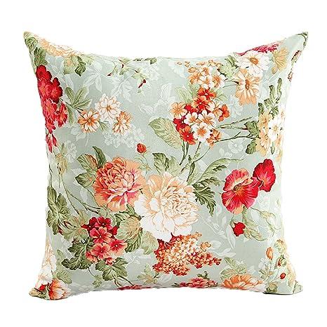 Amazon.com: zxke fundas de cojín (Artistic Home Floral ...