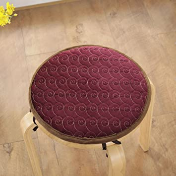 Qtqz Round Stool Chair Cushion Winter Padded Warm Sponge Pad Round