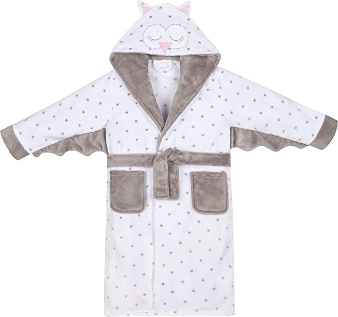Girls Night Owl Soft Fleece Dressing Gown ~ 7-13 Years