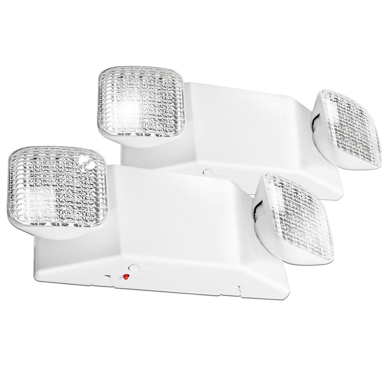 eTopLighting 2pcs x LED Emergency Exit Light Fixture - Standard Square Head UL924, AGG2460