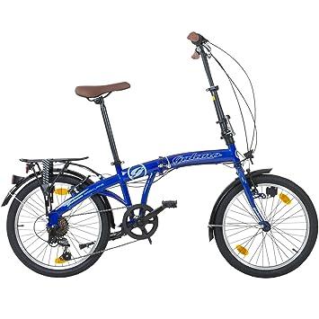 Viking Park Lane camping bicicleta plegable 6 velocidades Shimano Luz Iluminación de bicicleta plegable Blanco blanco